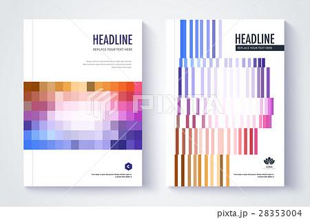 company profile template cover design のイラスト素材 28353004 pixta