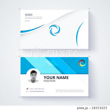 business card template commercial design のイラスト素材 28353025