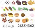 生菓子 和菓子 ベクターのイラスト 28354302