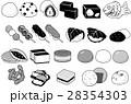 生菓子 和菓子 モノクロのイラスト 28354303