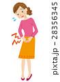 生理痛 腹痛 痛みのイラスト 28356345
