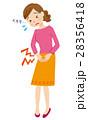 生理痛 腹痛 痛みのイラスト 28356418