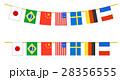 運動会 文化祭 国際 7カ国 万国旗  28356555