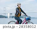 人物 女性 サイクリングの写真 28358012