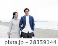 桂浜を観光するカップル 28359144