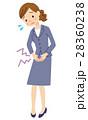 生理痛 腹痛 女性のイラスト 28360238