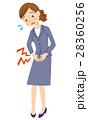 生理痛 腹痛 女性のイラスト 28360256