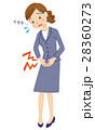 生理痛 腹痛 女性のイラスト 28360273
