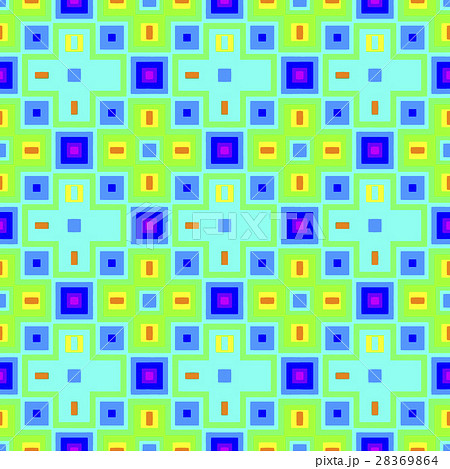 Geometric happy patternのイラスト素材 [28369864] - PIXTA