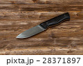Hunting steel knife handmade on a wooden 28371897