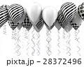 バルーン 風船 黒色のイラスト 28372496