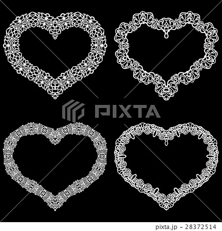 Laser cut frame in the shape of a heart  28372514