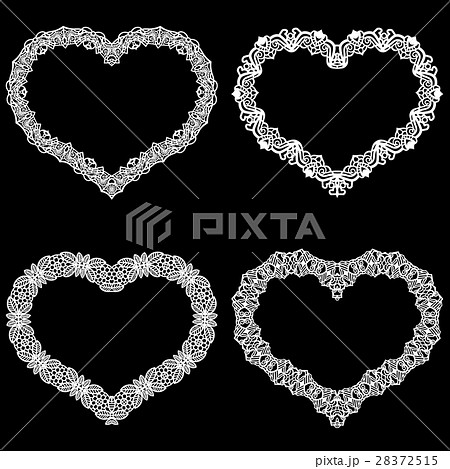 Laser cut frame in the shape of a heart  28372515