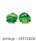 Funny frogs. Watercolor sketch for your design 28372828