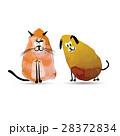 Funny cat and dog. Watercolor sketch for your 28372834