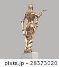 Golden Sculpture of a Young Woman 3D rendering 28373020