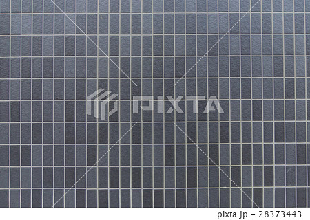 テクスチャ- 背景 タイル 黒 ブラック グレー 灰色 28373443