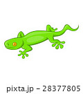 Green gecko lizard icon, cartoon style 28377805
