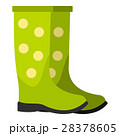 Rubber boots icon, flat style 28378605