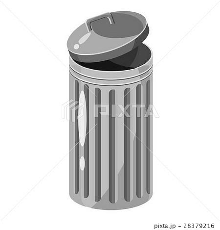 Trash can icon, gray monochrome styleのイラスト素材 [28379216] - PIXTA