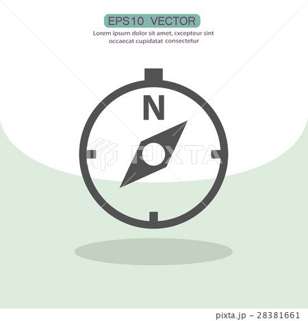 Pictograph of compass 28381661