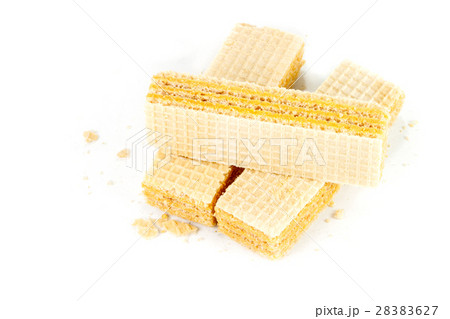 Wafers isolated on white backgroundの写真素材 [28383627] - PIXTA