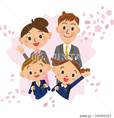 桜 入学式 家族 28384207