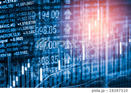 Stock market indicator and financial data view  28387310