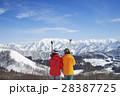 スキー場 カップル ポートレート 28387725