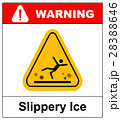 Caution watch for ice vector sign background 28388646