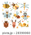 Funky Bugs And Insects Set Of Small Animals With 28390060