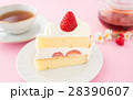 ショートケーキ イチゴショートケーキ 苺の写真 28390607