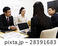 会議 プレゼン 打ち合わせ 女性 男性 チーム ビジネス オフィス ビジネスマン 28391683
