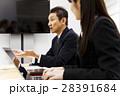 会議 プレゼン 打ち合わせ 女性 男性 チーム ビジネス オフィス ビジネスマン 28391684