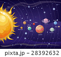 Solar System Design. Space with Planets and stars 28392632
