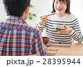 食卓 朝食 若夫婦の写真 28395944