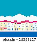 街並み 海 雲のイラスト 28396127