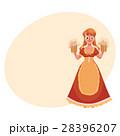 オクトーバーフェスト 女性 ベクトルのイラスト 28396207