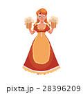 オクトーバーフェスト 女性 ベクトルのイラスト 28396209