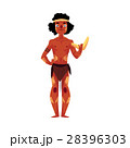 Australian aborigine in loincloth and war paint 28396303