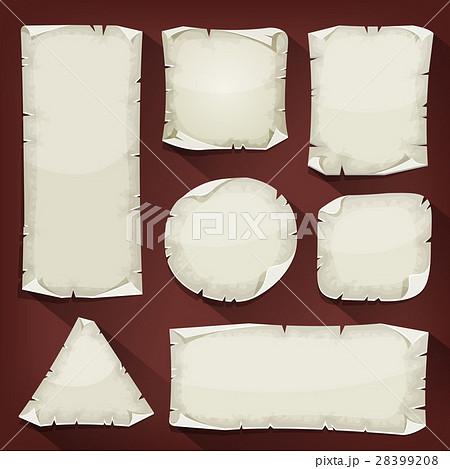 Old Torn Paper Setのイラスト素材 [28399208] - PIXTA