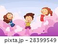 キッズ 子供 ジャンプのイラスト 28399549