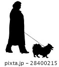 Silhouette of people and dog. Vector illustration 28400215