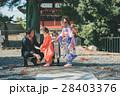 七五三 神社 参拝の写真 28403376