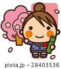 小学生 女子 卒業のイラスト 28403536