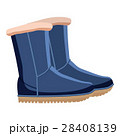 Pair of blue winter shoes icon, cartoon style 28408139
