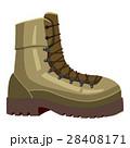 Khaki boot icon, cartoon style 28408171