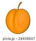 Peach icon, cartoon style 28408607