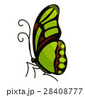 Green butterfly icon, cartoon style 28408777