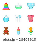 Newborn icons set, cartoon style 28408915